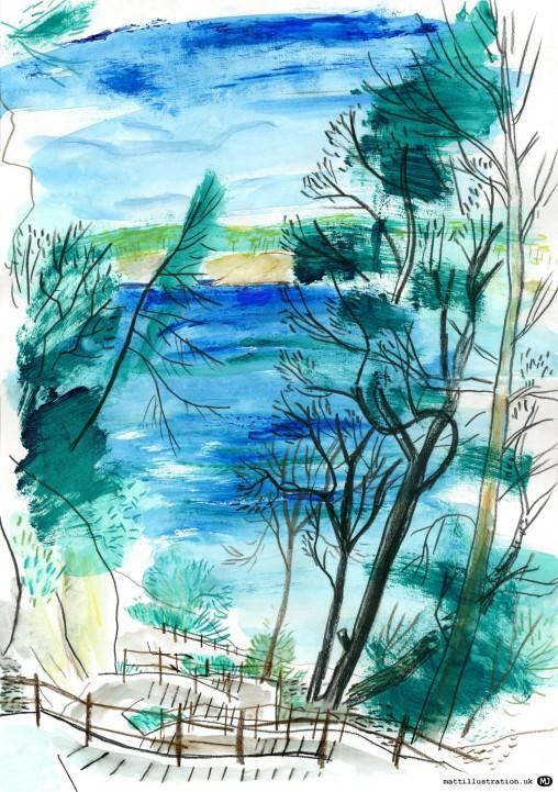 cala-galdana-steps-menorca-sketch-matt-johnson