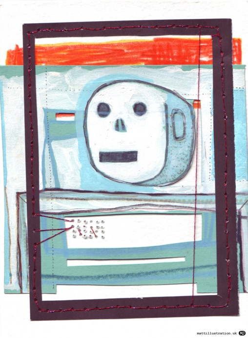 little robot collage