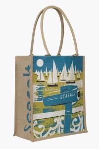 Seasalt jute bag with telescope yacht print by Matt johnson