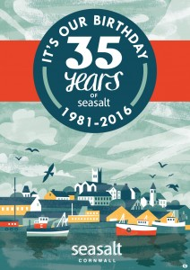 Seasalt Penzance 35th birthday poster by Matt Johnson