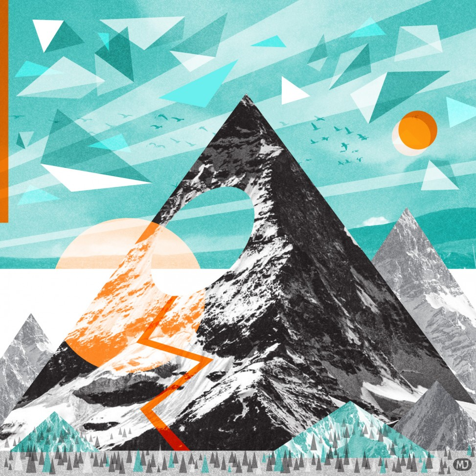 Mountain collage by Matt Johnson