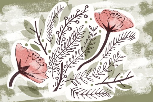 Floral illustration by Matt Johnson