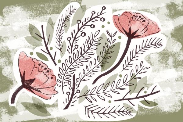 Floral illustration by Matt Johnson