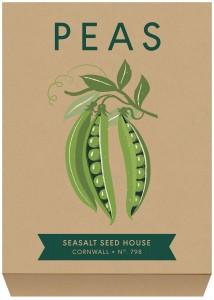 Pea seed packet illustraion by Matt Johnson