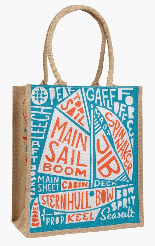 Seasalt sail boat parts jute bag by Matt Johnson