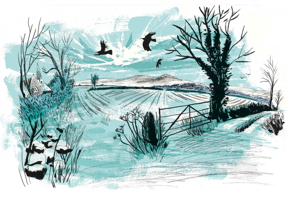 St Hilary to Trencrom Hill illustration by Matt Johnson