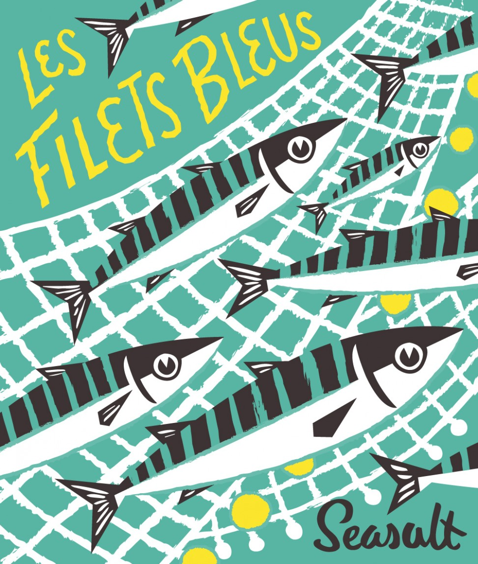 Les Filet Bleus print by Matt Johnson for Seasalt Cornwall