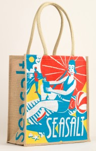 Beach belle jute bag by Matt Johnson for Seasalt Cornwall