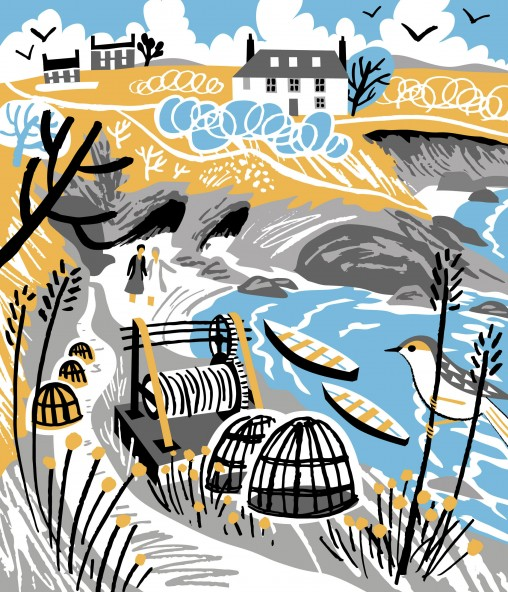 Prussia Cove Judi Dench Print Design
