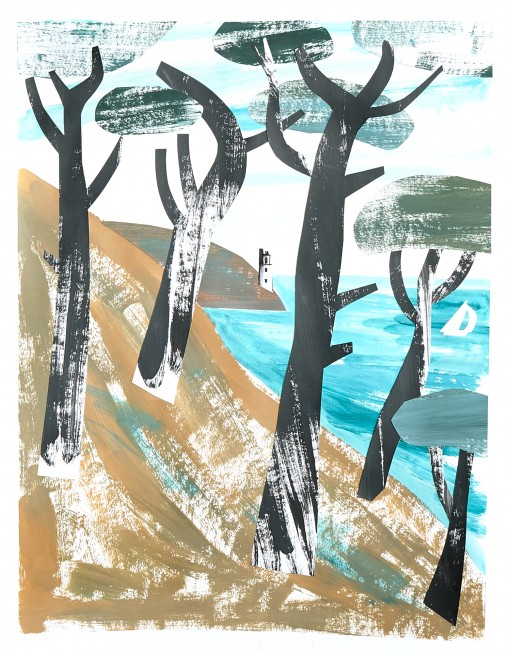 St Anthony's Head Pine Wood illustration by Matt Johnson for Seasalt Cornwall