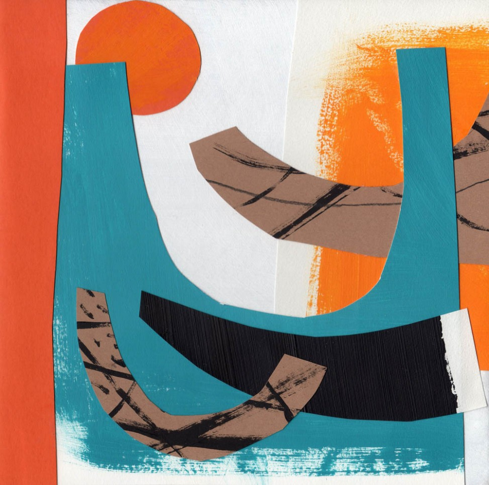 Abstract waves and sunshine collage by Matt Johnson