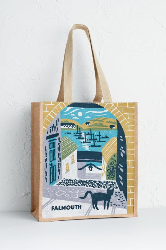 Falmouth Barracks Ope Jute Bag Print by Matt Johnson