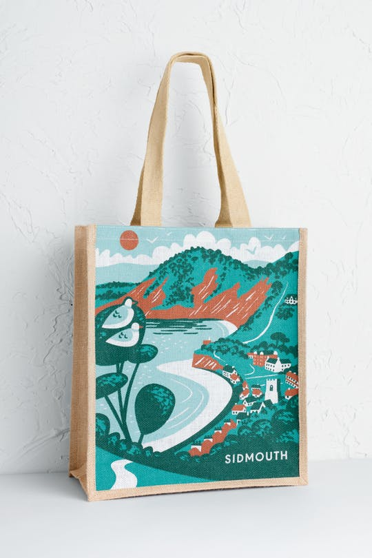 Sidmouth Jute Shopper Bag by Matt Johnson
