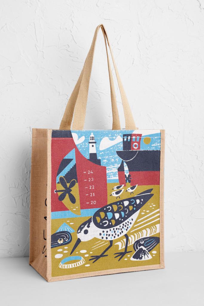 St ives Sanderling Tote Bag by Matt Johnson for Seasalt Cornwall