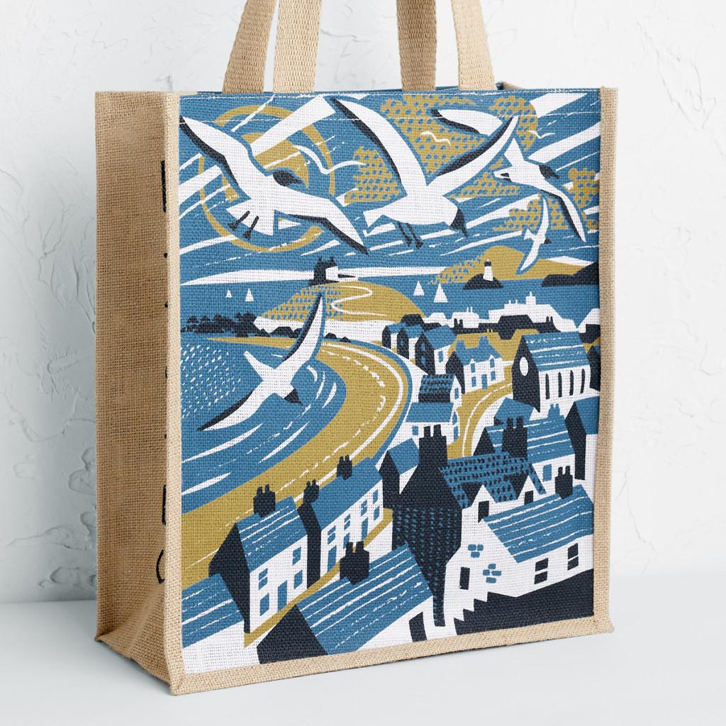 Porthmeor Beach St Ives print by Matt Johnson on Seasalt Cornwall tote bag