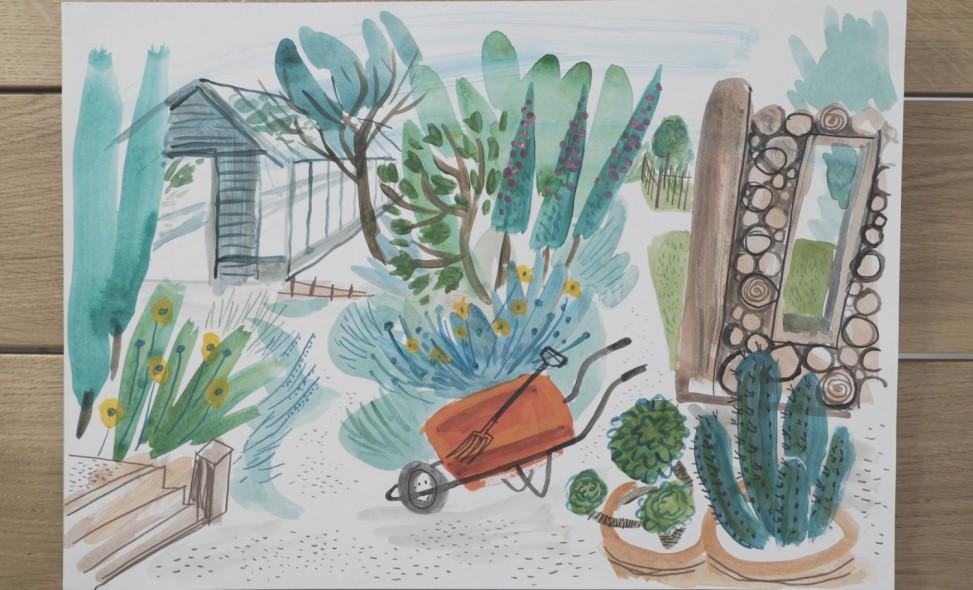 Potager Garden illustration by Matt Johnson