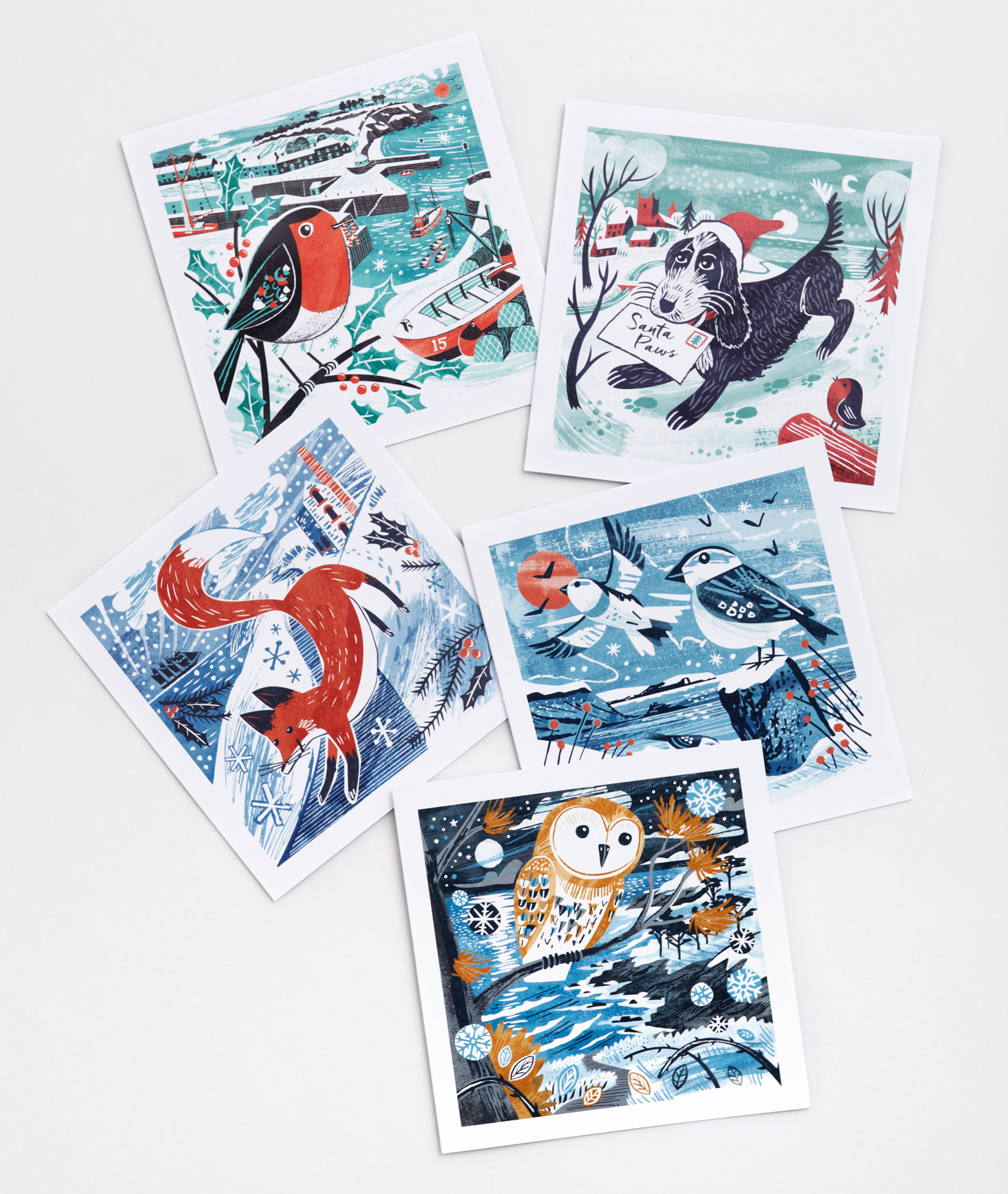 Christmas Card Pack by Matt Johnson for Seasalt Cornwall