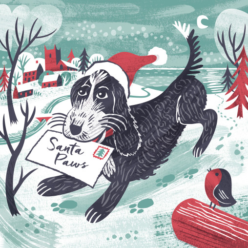 Pepe Christmas card by Matt Johnson for Seasalt Cornwall
