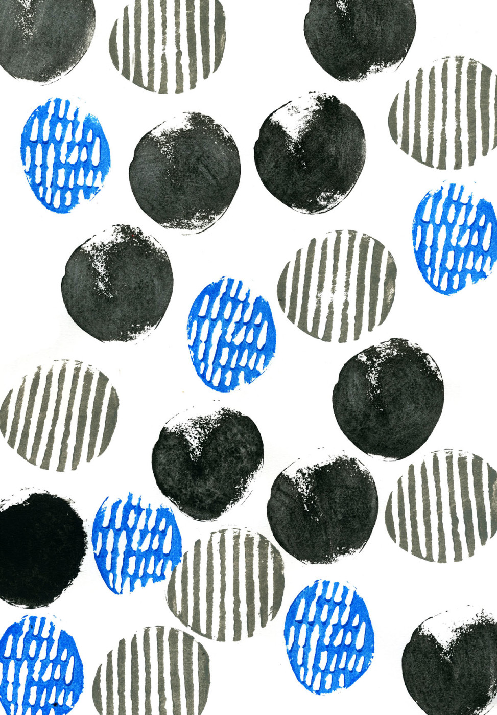 Wrapping paper abstract potato print by Matt Johnson