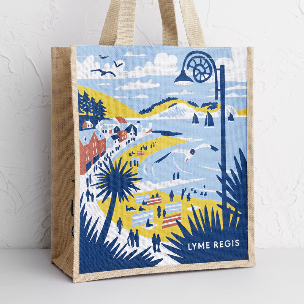 Lyme Regis tote bag by Matt Johnson for Seasalt Cornwall