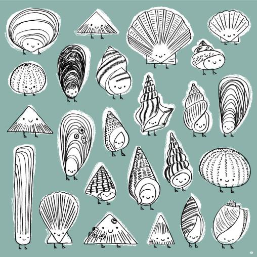 Shell Peeps cute sea shell characters by Matt Johnson