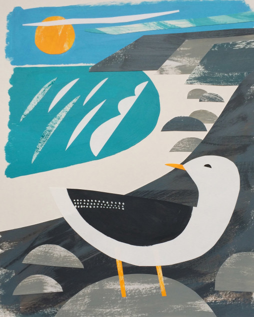 Treen Gull Collage Matt Johnson