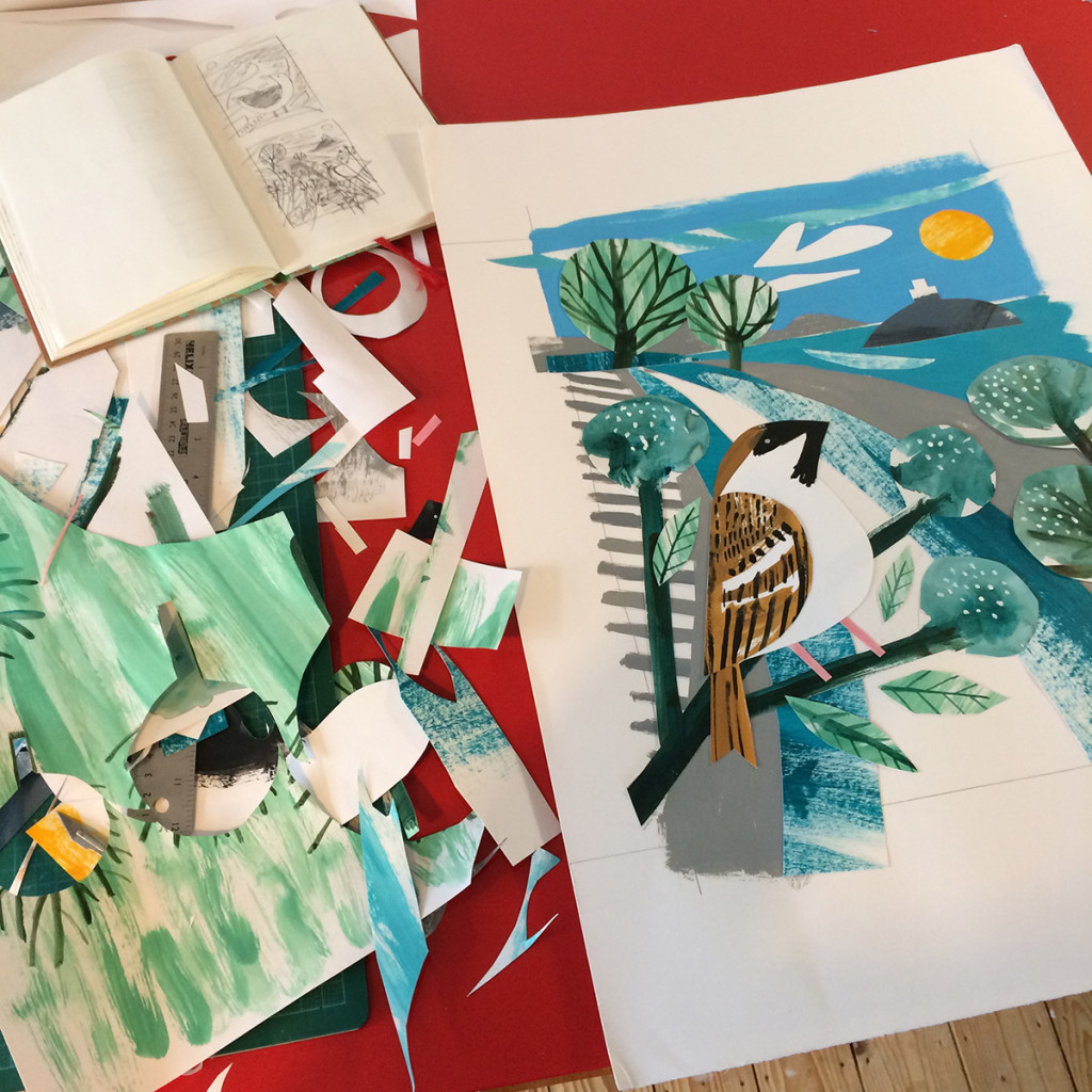 Tregarthen Sparrow collage by Matt Johnson - work in progress