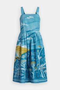 Sennen Cove Cornish landscape dress print on dress by Matt Johnson