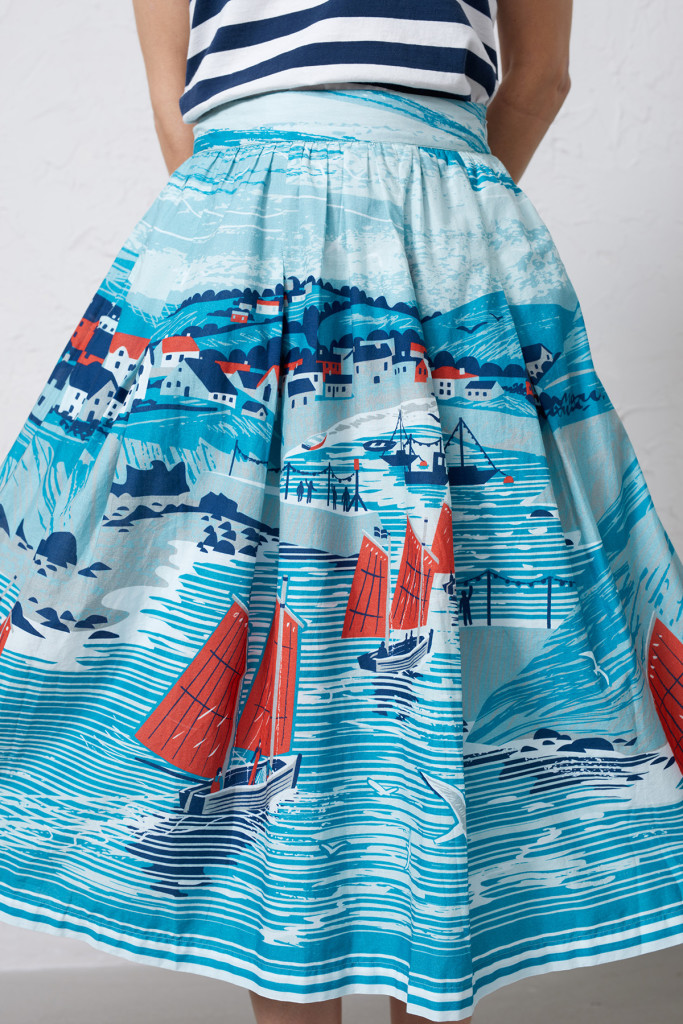 Scenic Spot Skirt - Port Isaac Cyan - 150
