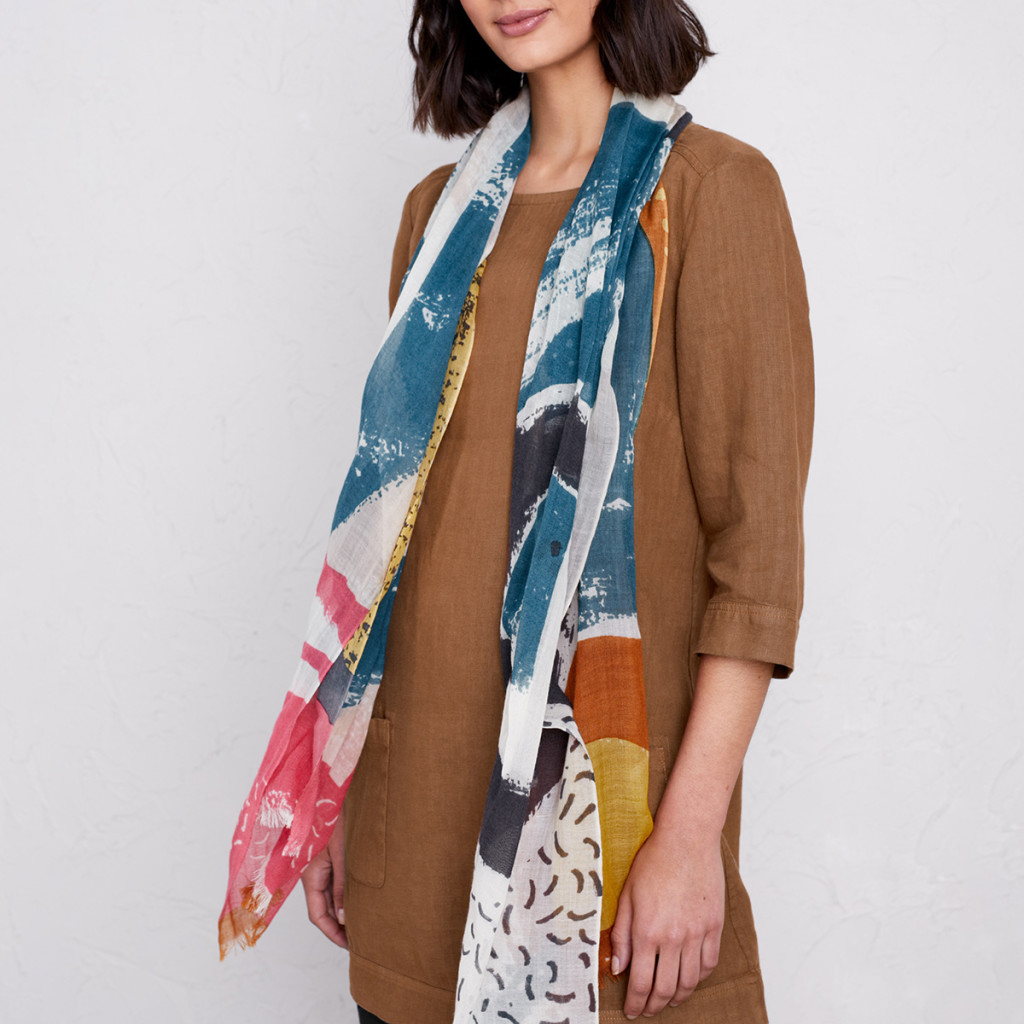 Scarf with abstract print design by Matt Johnson