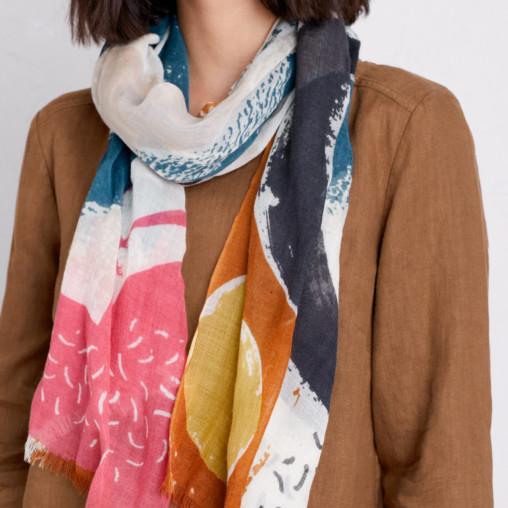 Abstract scarf print by Matt Johnson