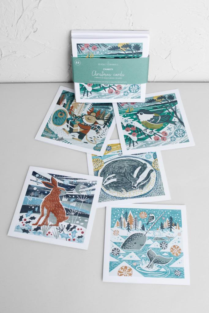 Cornwall Christmas Cards illustrated by Matt Johnson and Wina You