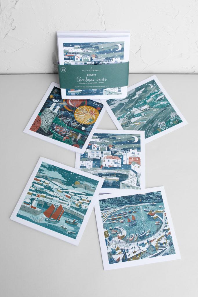 Cornwall charity Christmas cards by Matt Johnson, Megan Glenister and Jodie Matthews