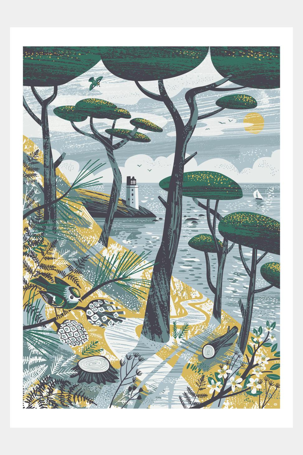 St Anthony Goldcrests Cornwall print by Matt Johnson