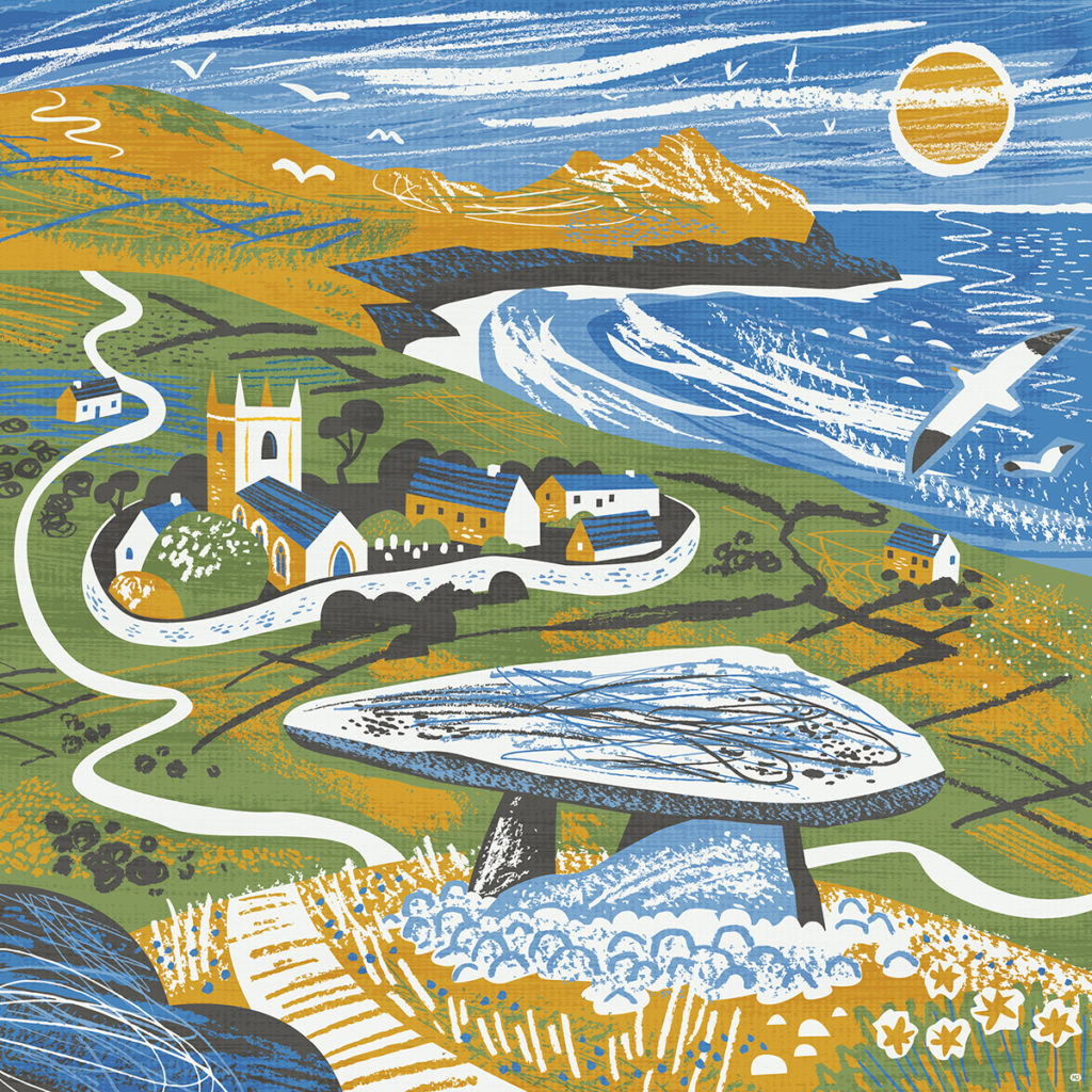 Zennor Quoit illustration by Matt Johnson