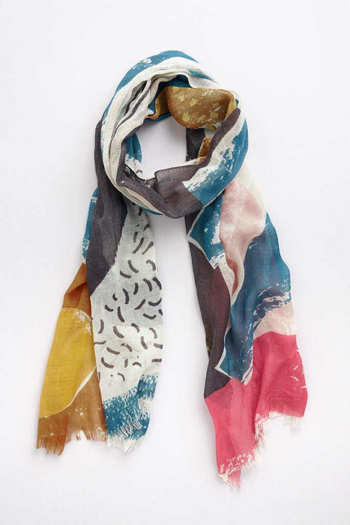 Men-An-Tol abstract scarf print by Matt Johnson