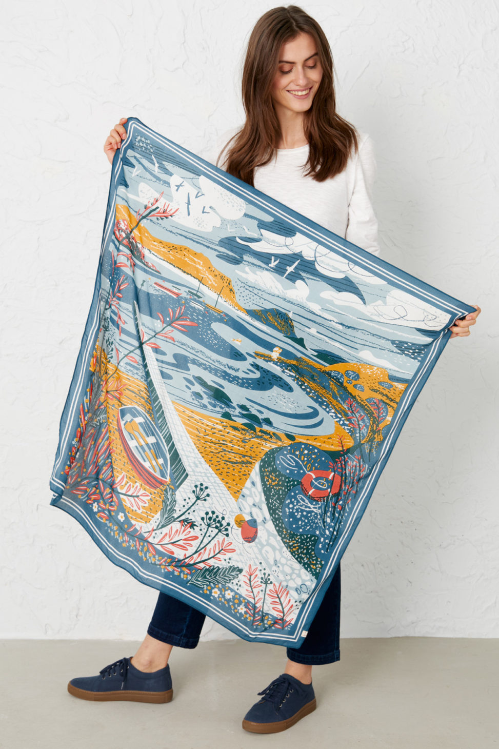 Taen Sound Scilly scarf print by Matt Johnson for Seasalt Cornwall