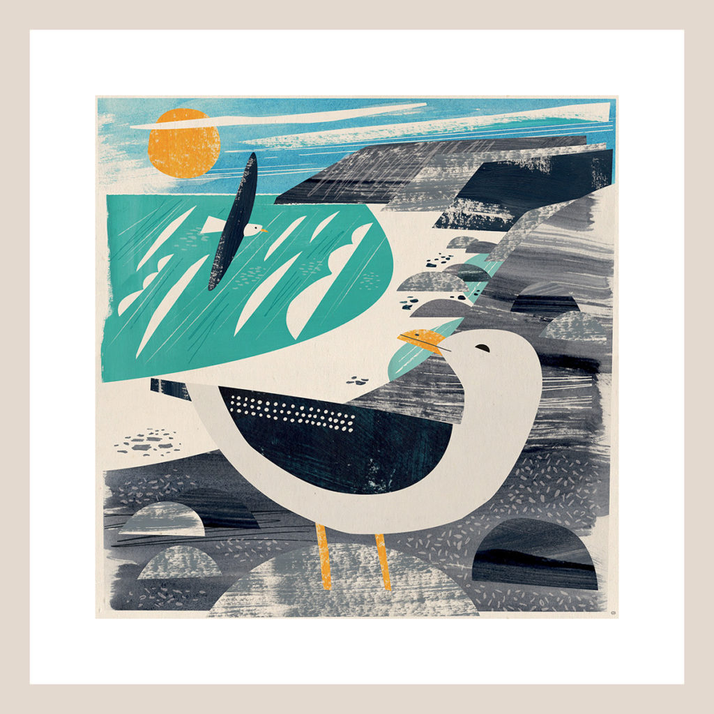 Treen Gull print by Matt Johnson