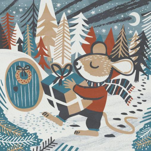 Christmas Mouse illustration by Matt Johnson