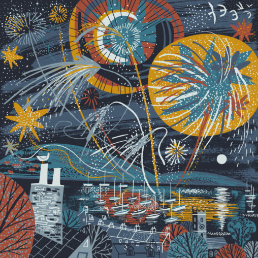 Falmouth Fireworks illustration by Matt Johnson