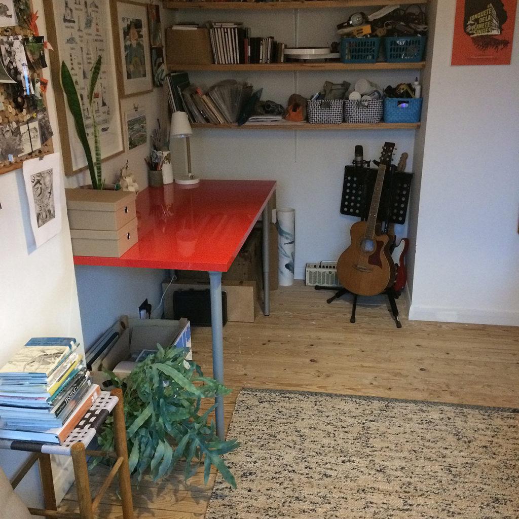 Illustrator Matt Johnson's studio workspace