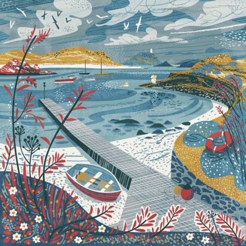 Illustration Taen Sound, St Martins in the Isles of Scilly by Matt Johnson