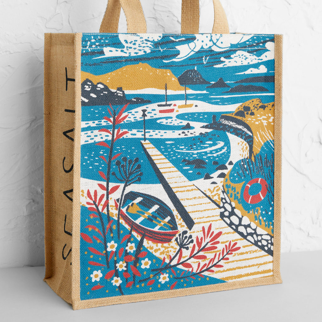 Tean Sound, Isles of Scilly tote bag print by Matt Johnson at Seasalt Cornwall