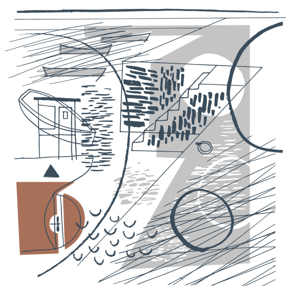 Falmouth Quay illustration by Matt Johnson