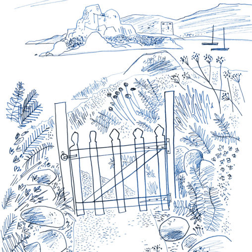 Sketch of Bryher Gate, Isles of Scilly by Matt Johnson