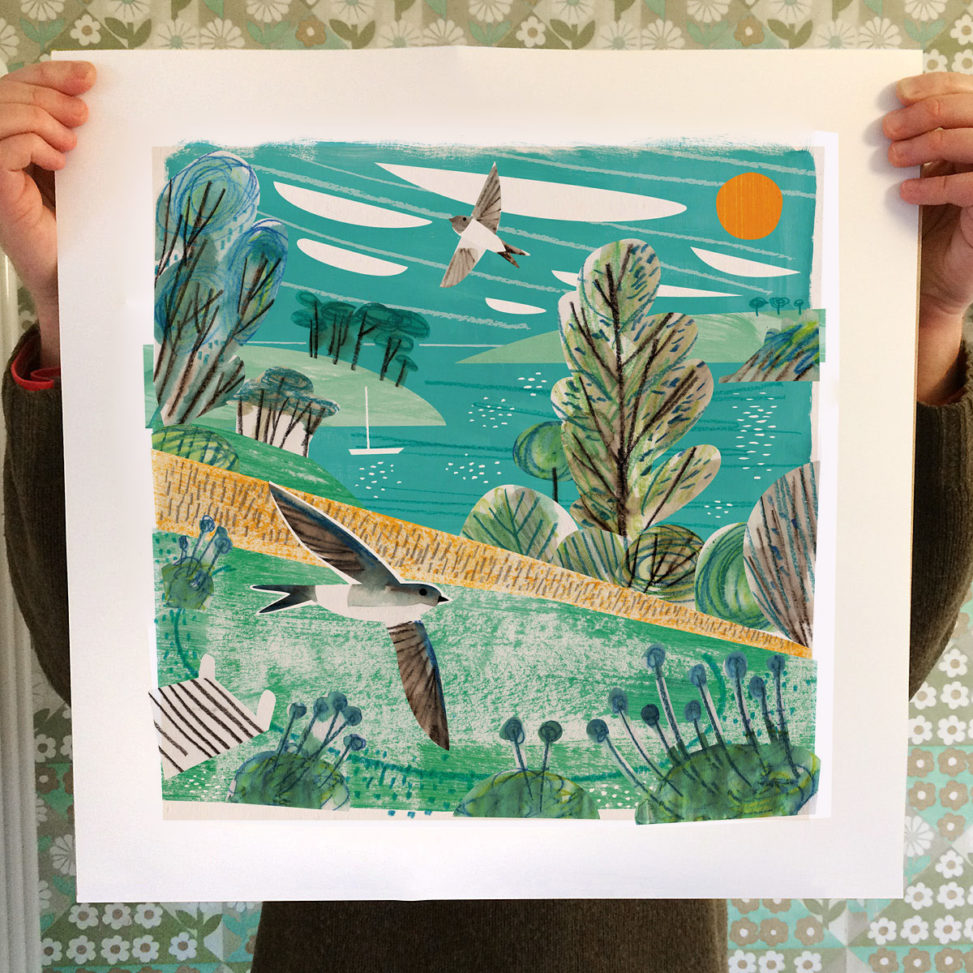 Bosloe House Martins print by Matt Johnson