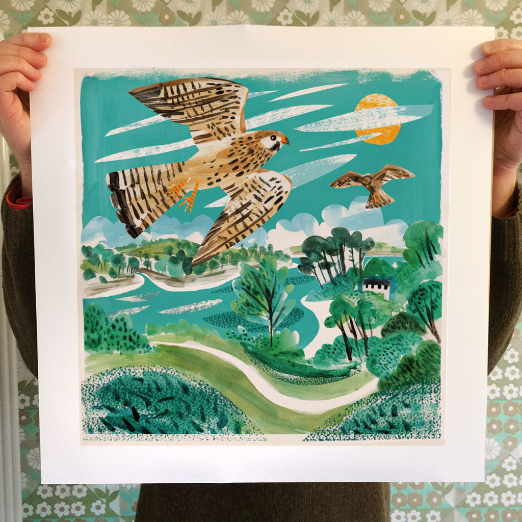 Helford Kestrels print by Matt Johnson