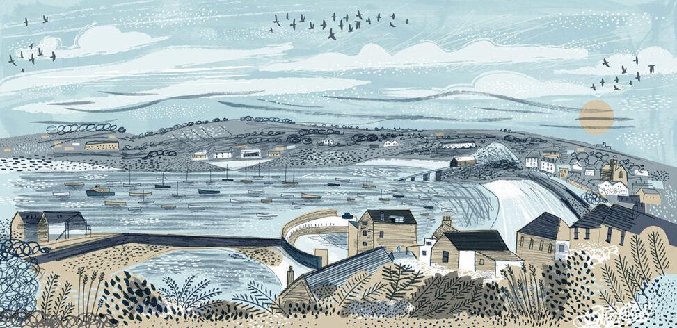 St Mary's harbour, Scilly illustration by Matt Johnson