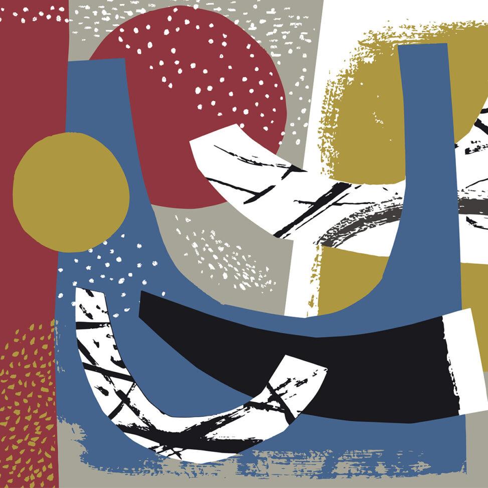 Abstract seascape print design by Matt Johnson
