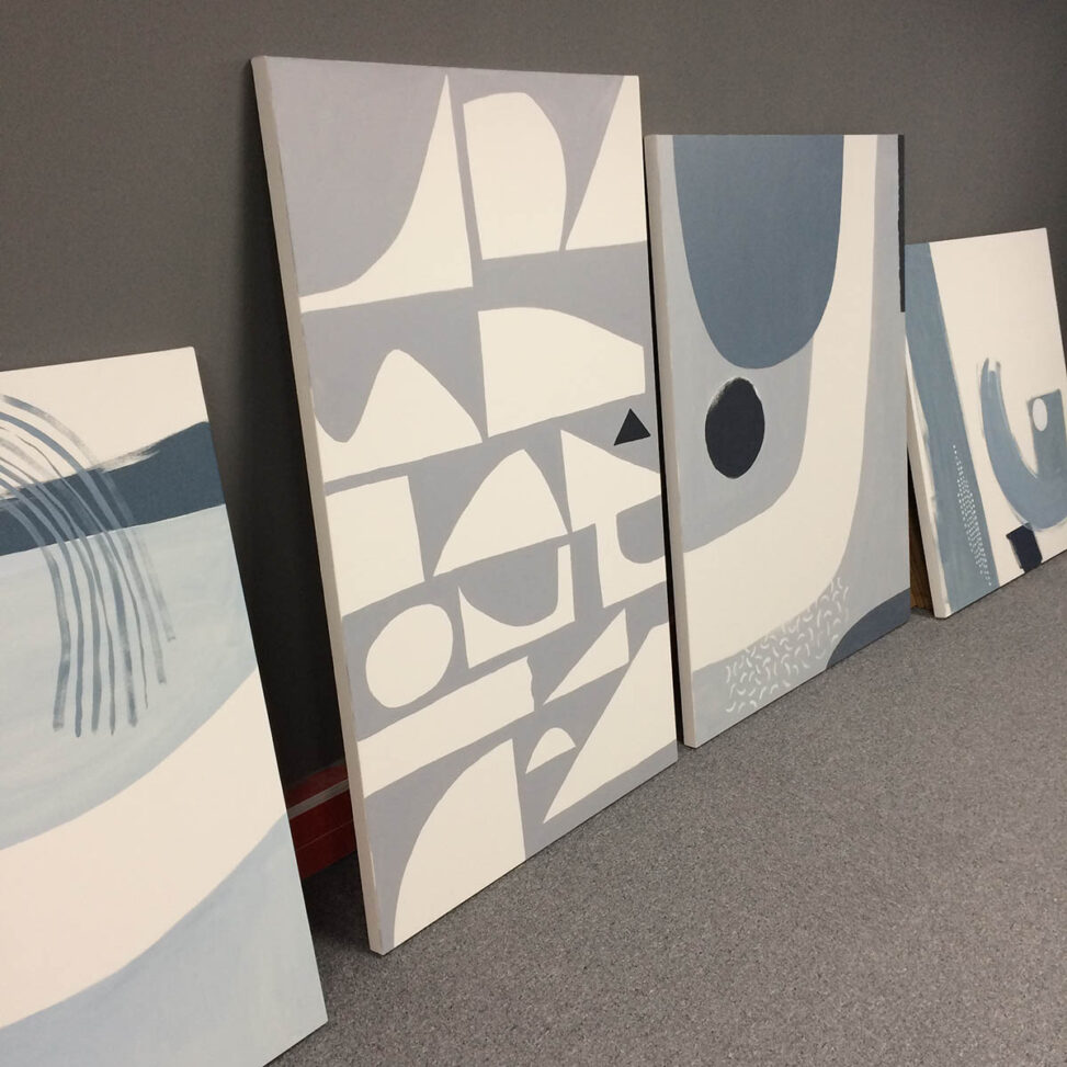 Abstract Seascape canvasses by Matt Johnson